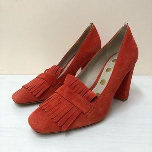 Biden orange suede heels (11)